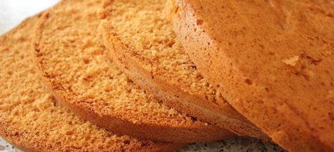 простойрецепт медовых бисквитных коржей с фото
