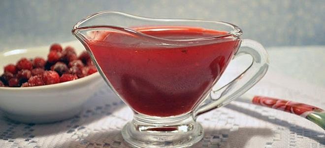 Брусничный соус с красным вином