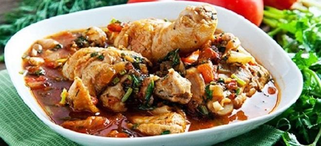 Чахохбили из курицы - рецепт в мультварке