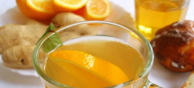 чай с апельсином и имбирем