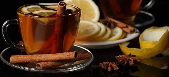 Чай с корицей и лимоном - рецепт