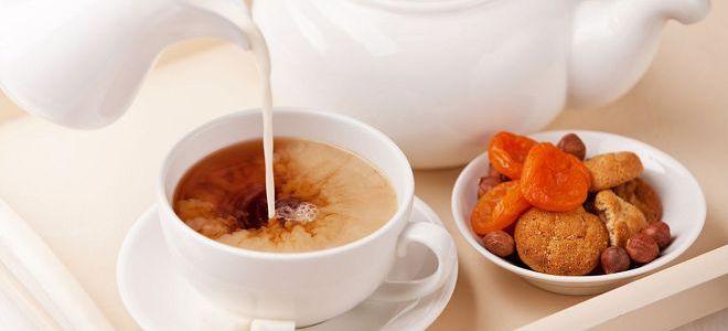 Черный чай с молоком