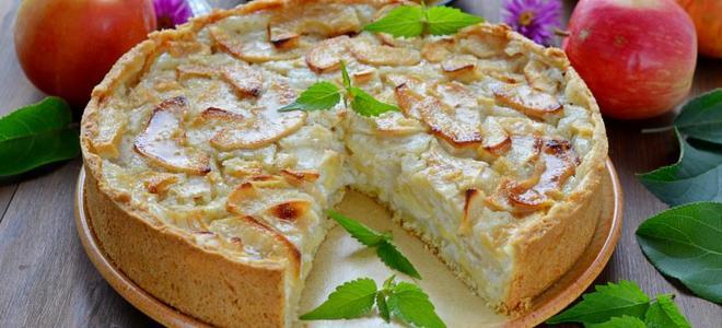 Цветаевский яблочный пирог со сметаной - рецепт пошаговый с фото