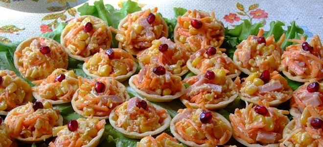 детский салат в тарталетках