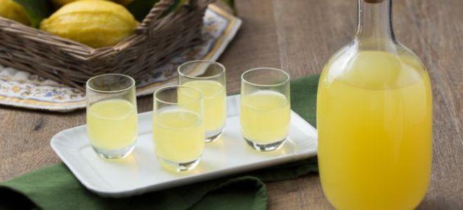 Домашний ликер из лимонов на спирту