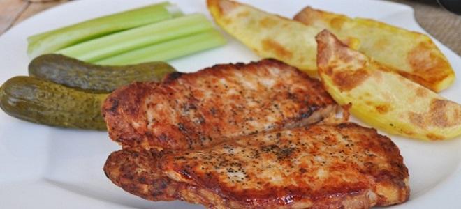эскалоп из свинины с картошкой