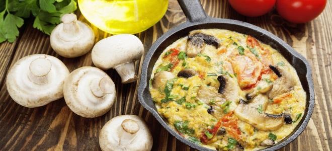 фриттата с грибами рецепт