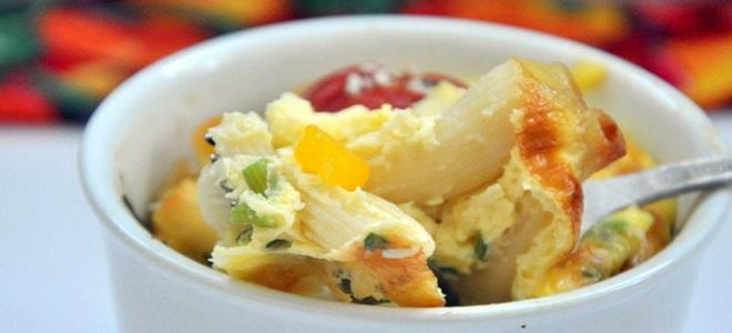 фриттата с макаронами – рецепт