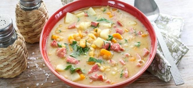 Рецепт супа харчо с колбасой с фото