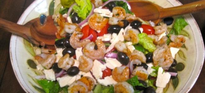 греческий салат с креветками рецепт классический