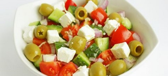 греческий салат с оливками рецепт
