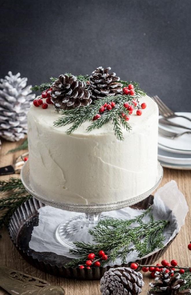 Идеи оформления новогодних тортов 1