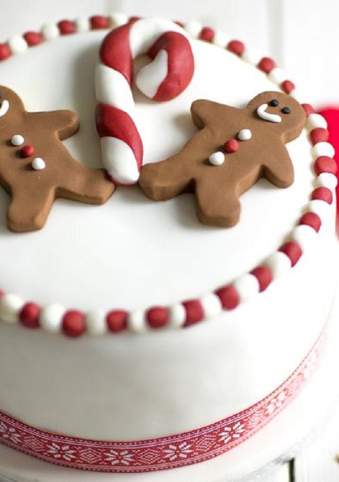 Идеи оформления новогодних тортов 7