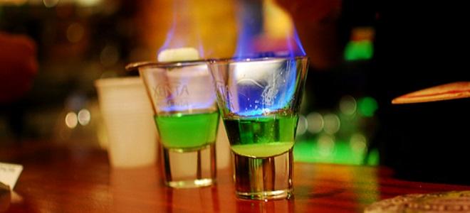 как пить горящий абсент