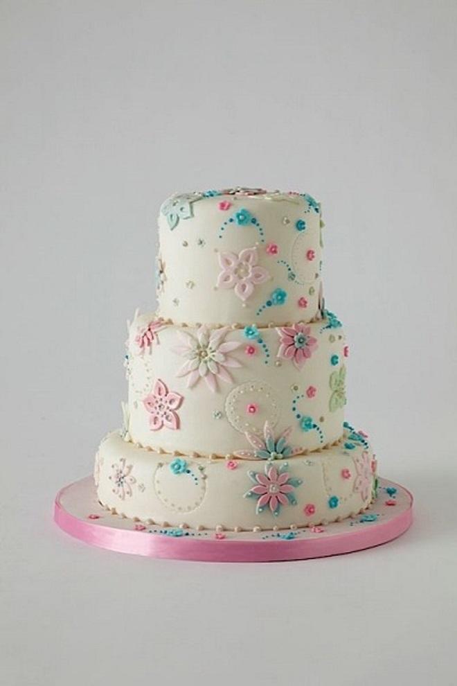Как украсить торт для девочки своими руками 4