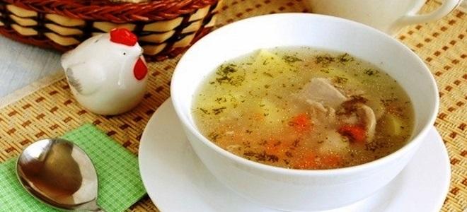 Какой суп приготовить на обед из курицы