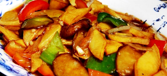 рецепт картошка с баклажанами по китайски