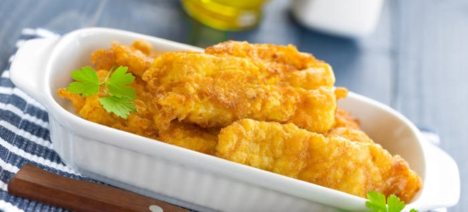 кляр для рыбы с крахмалом рецепт