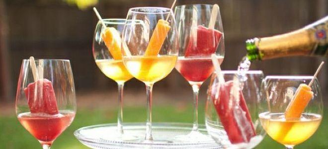 коктейль шампанское с мороженым