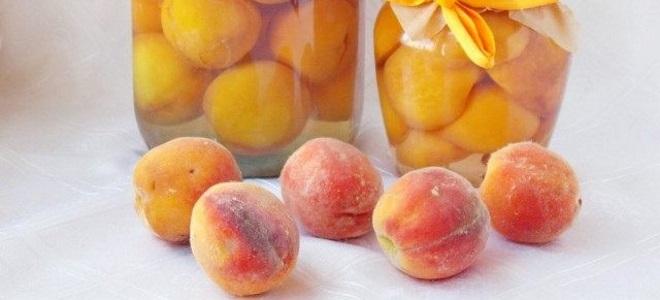 компот из целых персиков на зиму