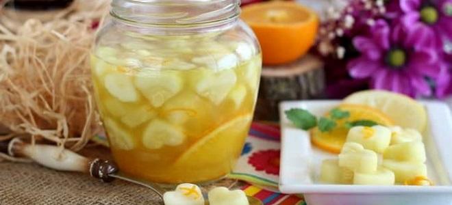 компот из кабачков на зиму как ананас