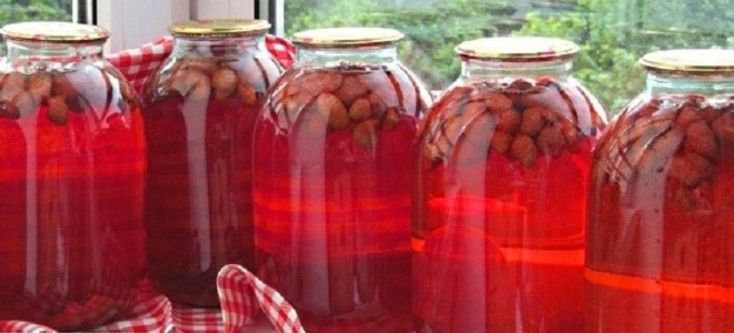 компот из клубники и малины на зиму