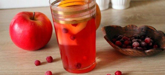 компот из клюквы и яблок рецепт