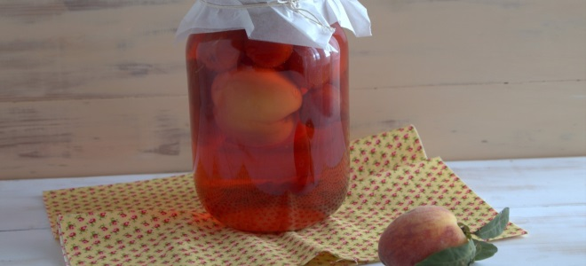 компот из персика на зиму без стерилизации