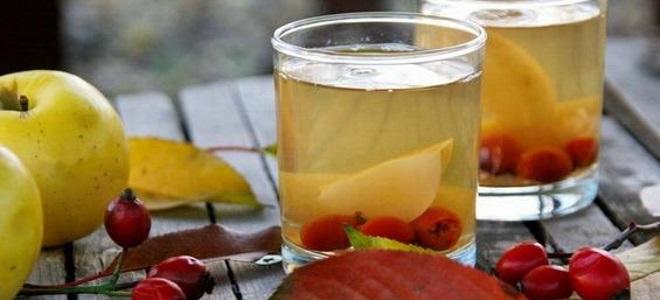 Компот из замороженных яблок и малины - рецепт пошаговый с фото