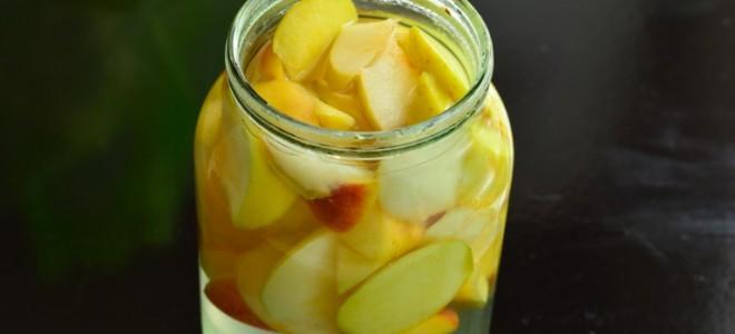 Компот из яблок и кабачков на зиму