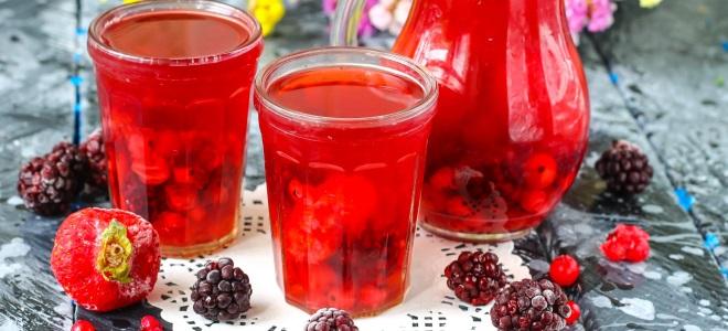 компот из ягод на зиму простой рецепт