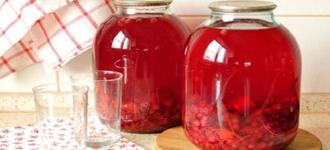 Концентрированный компот из красной смородины на зиму