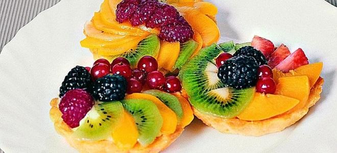 Рецепт песочного пирожного с фруктовой начинкой 8