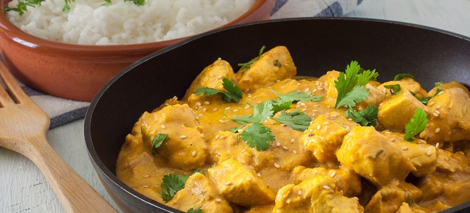 рецепт карри с курицей для риса