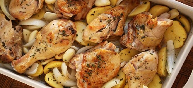 449Куриные ножки с грибами в духовке рецепты