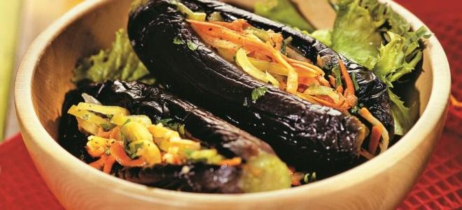 Баклажаны соленые с морковью и чесноком быстро и вкусно, рецепты под гнётом