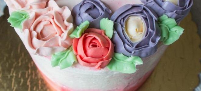 Масляный крем для украшения торта