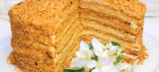рецепт простого рецепта торт медовик