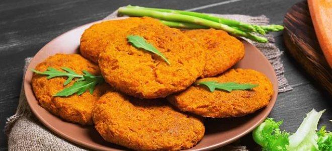 Морковные котлеты в духовке – рецепт