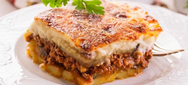 мусака рецепт с баклажанами без мяса