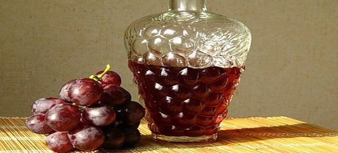 Настойка из винограда Лидия на водке