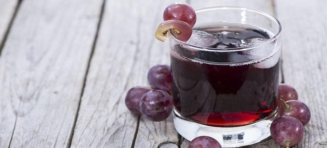 Настойка на виноградном соке с водкой