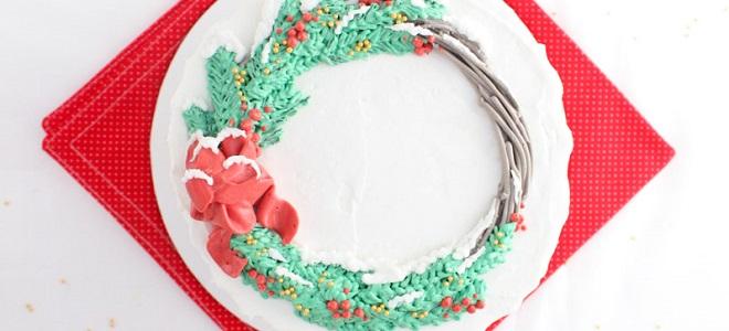 Новогодние кремовые торты