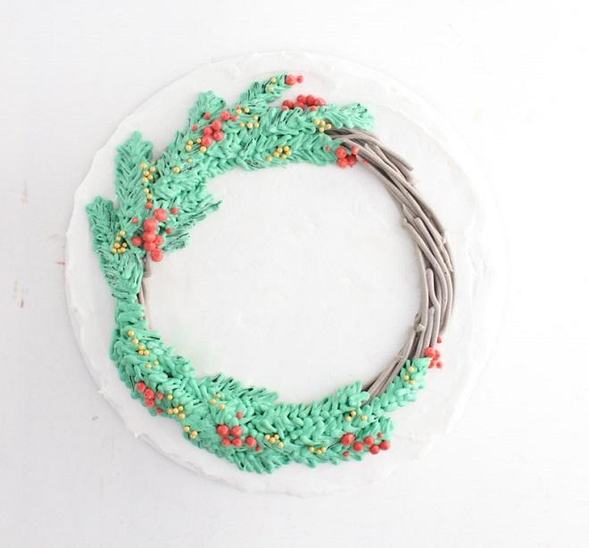 Новогодние кремовые торты 4