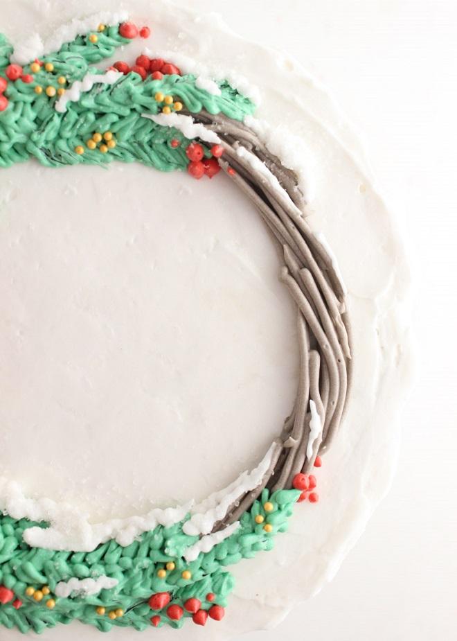 Новогодние кремовые торты 6