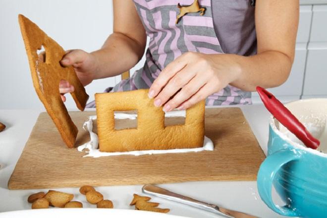 Новогодний торт «Домик»