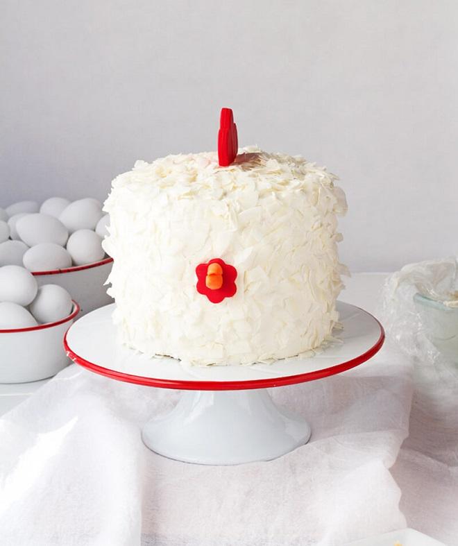 Новогодний торт «Петух» 7