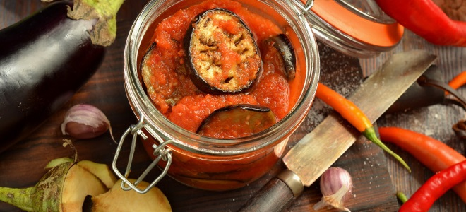 огонек с баклажанами и помидорами