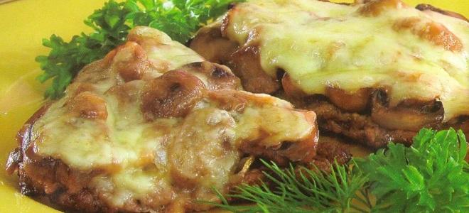 Отбивые из говядины в духовке с грибами