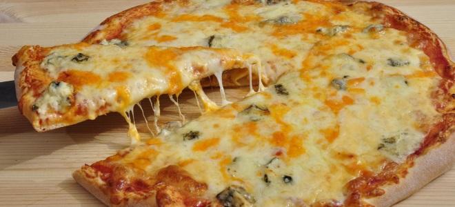 Пицца четыре сыра в домашних условиях – рецепт